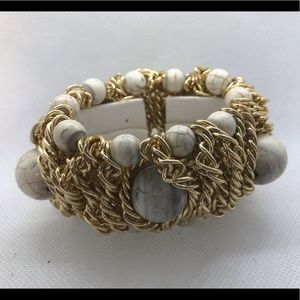 Gold chain bulky bracelet